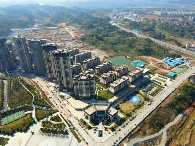 龙创滨江公园城2020年11月高空航拍全景