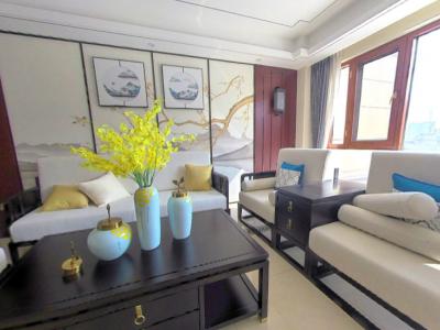 辰溪辰华·未来城A1户型三室两厅两卫124㎡样板间全景展示